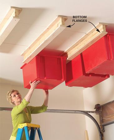 garage overhead storage shelf plans