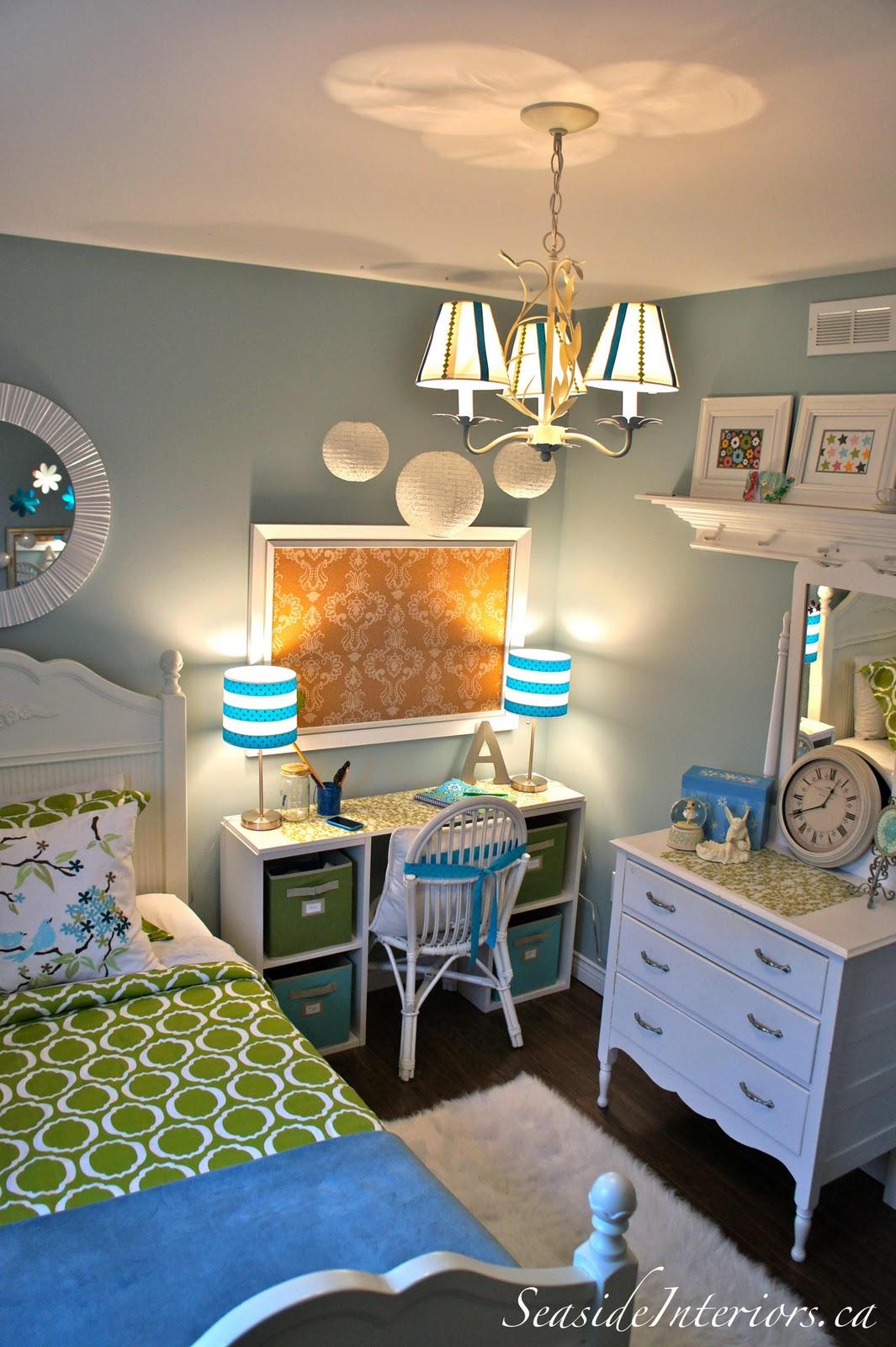 Green And Blue Girls Room Redo Seaside Interiors